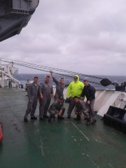 Cadets in Tough Seas