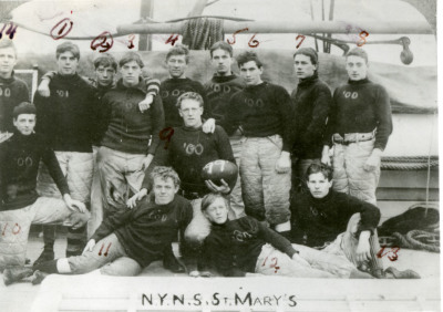 Image of football team in uniforms.