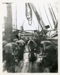 Cleaning the Deck of the St. Mary's
