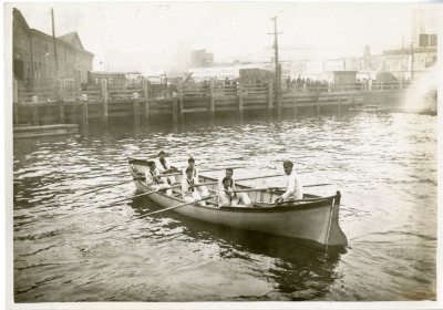Image of cadets in whaleboat.