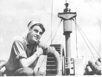 Self Portrait of Phylipp Dilloway fro summer cruise of 1945.