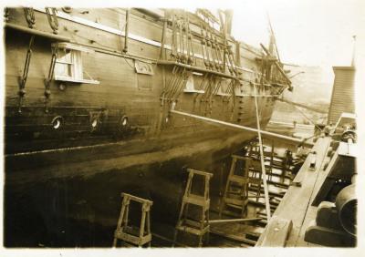 Image of docked ship.