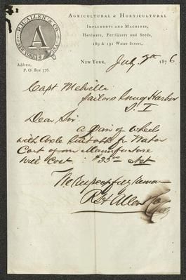 The letter is handwritten in brown ink on R. H. Allen & Co. letterhead, which is printed on cream-colored paper. The sheet has been folded several times and has a distinct vertical fold dividing the paper in half.