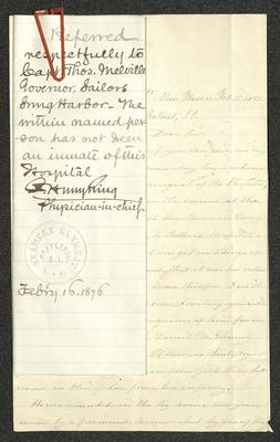 Image of the packet of letters, clipped together.