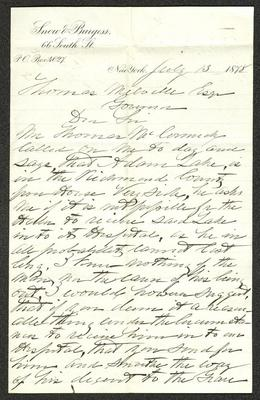 The letter is handwritten with black ink on Snow & Burgess letterhead, which is on cream-colored paper. The sheet has been folded several times.
