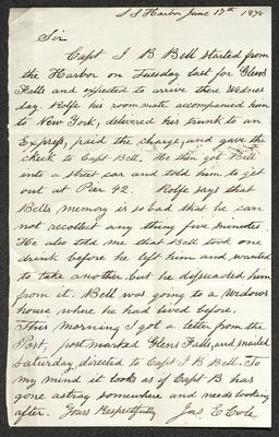 The letter is handwritten in brown ink on cream-colored paper. It has been folded several times.