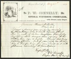 Letter to Captain Thomas Melville, Governor of Sailors' Snug Harbor, from P. W. Connelly, Director, General Furnishing Undertaker, August 27, 1878