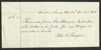 The letter is handwritten in brown ink on cream-colored paper with faint blue lines.