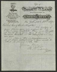 Letter to the Sailors' Snug Harbor Hospital from Hermon W. Ladd, of Webster and Ladd, October 14, 1878