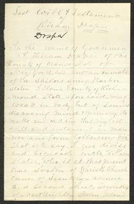 The document is handwritten in gray ink on cream-colored paper with faint blue lines. It has been folded several times and the most prominent fold divides the sheet in half vertically.