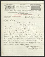Letter to Captain Thomas Melville, Governor of Sailors' Snug Harbor, from H. W. Bigelow, of the Tucker Manufacturing Co., February 17, 1880