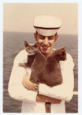 Cadet with Cats