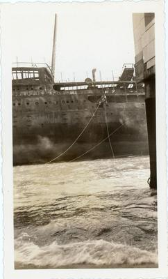A closer look of the SS Morro Castle