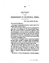 New York Nautical School Annual Report, 1882