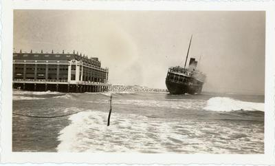 The ship drifts her way to the shores of Asbury Park, New Jersey