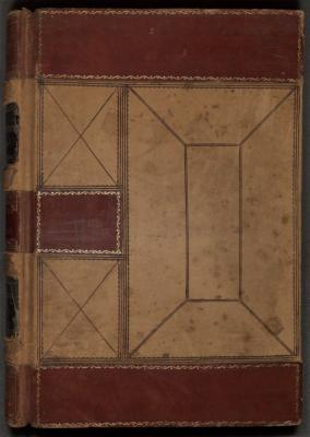 The volume is bound in embossed red letter and typewritten on cream-colored paper. The PDF file has been OCR-enabled. Part 1: Cover to January 5, 1807