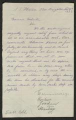 Petition to Captain Thomas Melville, Governor of Sailors' Snug Harbor, from Inmates, Sailors' Snug Harbor, November 4, 1873