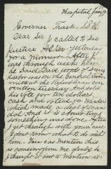Letter to Captain Gustavus D. S. Trask, Governor of Sailors' Snug Harbor, from L. H. [Lorin H.] Botsford, Inmate, Sailors' Snug Harbor, January 9, 1890