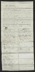 Petition to Captain Thomas Melville, Governor of Sailors' Snug Harbor, from the Inmates of Sailors' Snug Harbor, September, 1875