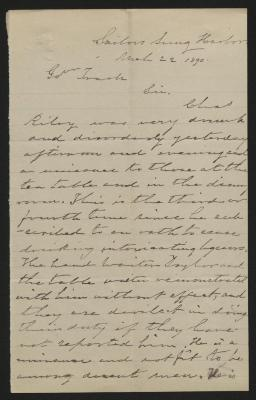 The letter is handwritten in grayish-brown ink on cream-colored paper. It has been folded several times and the most prominent fold divides the sheet in half vertically.