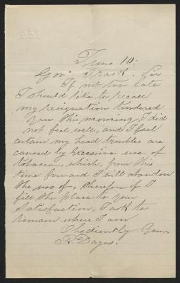 The letter is handwritten in gray ink on cream-colored paper with faint blue lines. It has been folded several times and a prominent fold divides the sheet in half vertically.