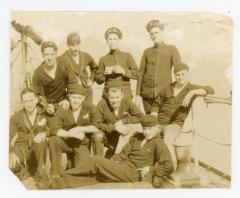 Cadets aboard the Schoolship Newport