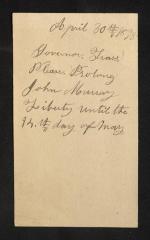 Postcard to Captain Gustavus D. S. Trask, Governor of Sailors' Snug Harbor, from John Murray, April 30, 1893