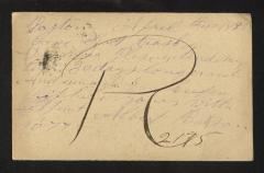 Postcard to Captain Gustavus D. S. Trask, Governor of Sailors' Snug Harbor, from Albert Batson, April 10, 1893